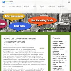 How to Use Customer Relationship Management Software