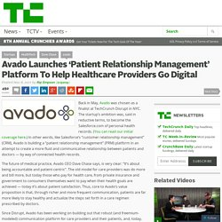 Avado Launches 'Patient Relationship Management' Platform To Help Healthcare Providers Go Digital