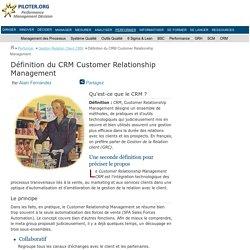 Qu'est-ce que CRM Customer Relationship Management