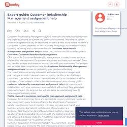 Expert guide: Customer Relationship Management assignment help - Mamby