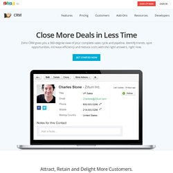 On-Demand CRM Software-as-a-Service(SaaS),Free CRM,Customer Relationship Management - Zoho CRM