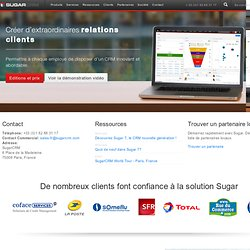 Open Source Business CRM & Software CRM Social - SugarCRM