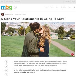 5 Signs Your Relationship Is Going To Last