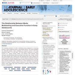 The Relationship Between Media Multitasking and Executive Function in Early Adolescents