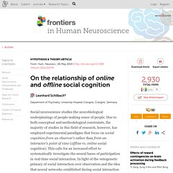 On the relationship of online and offline social cognition