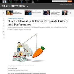 The Relationship Between Corporate Culture and Performance