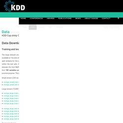 SIGKDD : KDD Cup 2009 : Customer relationship prediction