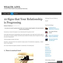 10 Signs that Your Relationship is Progressing