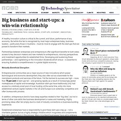 Big business and start-ups: a win-win relationship