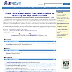 Cultural Landscape of Chang'an City in Han Dynasty and Its Relationship with Royal Power Succession