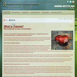 Relationship Emergency - Stage 1 What is Trauma? Why heartbreak can leave us traumatized.