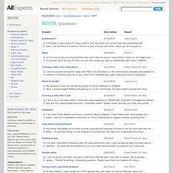 BDSM - BDSM - People/Relationships - AllExperts.com