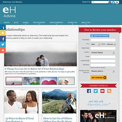 Relationships on eHarmony Advice