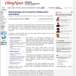 Relationships Are Crucial to Collaborative Journalism - OhmyNews International