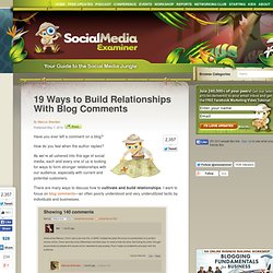 19 Ways to Build Relationships With Blog Comments
