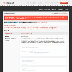 Access to data in Many To Many Relationships Eloquent (Page 1) / Laravel 3.x Help / Laravel Forums