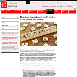 London School of Economics : étude sur le bonheur