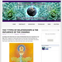 The 7 Types Of Relationships & The Influence Of The Chakras