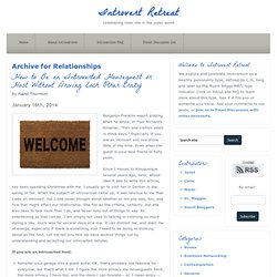 Relationships :: Introvert Retreat