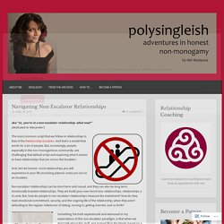 Navigating Non Escalator Relationships – Polysingleish