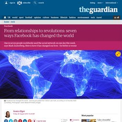 From relationships to revolutions: seven ways Facebook has changed the world