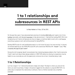 1 to 1 relationships and subresources in REST APIs