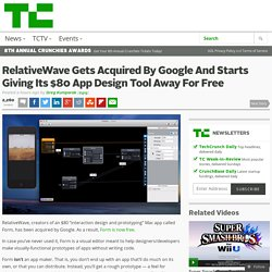 RelativeWave Gets Acquired By Google And Starts Giving Its $80 App Design Tool Away For Free
