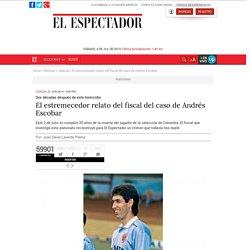 El relato del fiscal del caso de Andrés Escobar