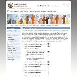 Relatoría Especial para la Libertad de Expresión - Informes sobre Paises.