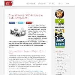 Relaunch: Checkliste für SEO-konforme CMS-Templates