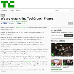 Techcrunch France relaunching