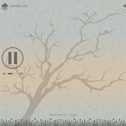 Relax to the sound of rain with Rainfor.me