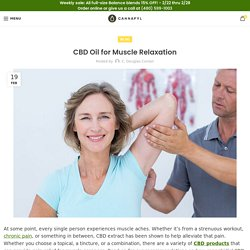CBD Oil for Muscle Relaxation