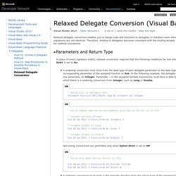 Relaxed Delegate Conversion (Visual Basic)