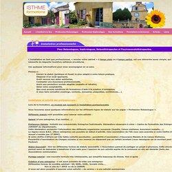 Installation professionnelle pour Relaxologues, Sophrologues, Relaxothérapeutes, Somatothérapeutes et Praticiens en Massage