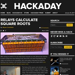 Relays Calculate Square Roots