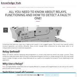 All You Need To Know About Relays, Functioning And How To Detect A Faulty One!