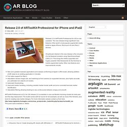 Release 2.0 of ARToolKit Professional for iPhone and iPad2