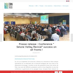 """Presse release : Conference """" Selune Valley Revival"""" success on all fronts ! – European Rivers Network"""