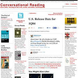 U.S. Release Date for 1Q84 | Conversational Reading
