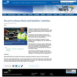 SA set to release final road fatalities' statistics :Tuesday 22 April 2014