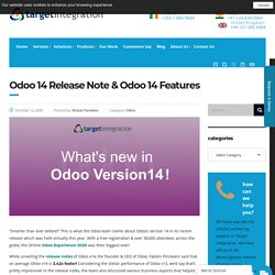 Odoo 14 Release Note & Odoo 14 Features - Target Integration