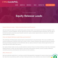 Buy Equity Release Leads