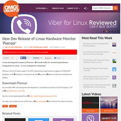 New Dev Release of Linux Hardware Monitor 'Psensor' | OMG! Ubuntu!
