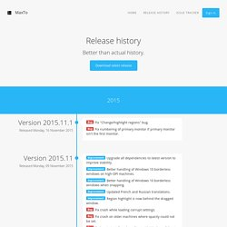 Release history