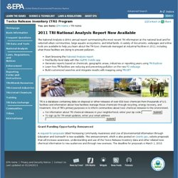 EPA - Toxics Release Inventory (TRI) Program