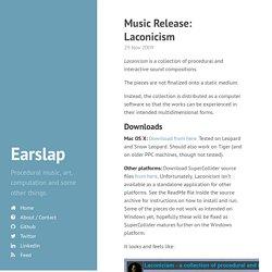 Music Release: Laconicism · Earslap