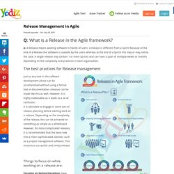 Release Management in Agile