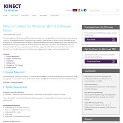 Microsoft Kinect for Windows