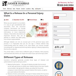 What Is a Release In a Personal Injury Claim